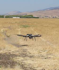 The Perimeter drone during takeoff