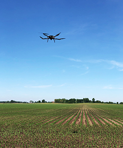 Perimeter performing long range agricultural mapping mission