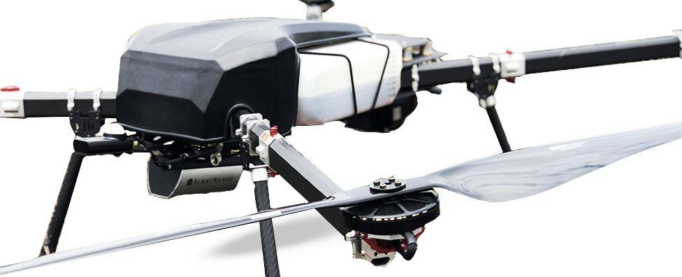 Perimeter drone white background