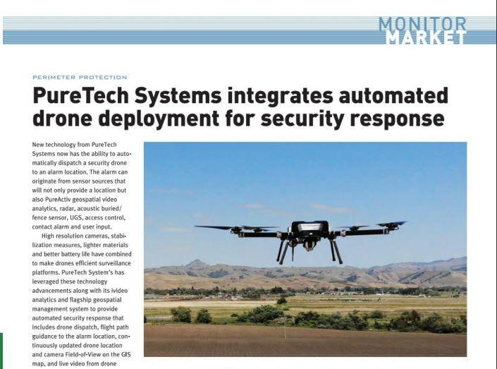 PureTech Systems Works With Skyfront To Provide Automated